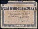 Fünf Billionen Mark 1923 Lippspringe, Bad, Westfalen  Topp 556.13, star... 10,00 EUR  + 7,00 EUR frais d'envoi