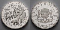 100 Shillings1 oz.Ø 39 mm 2008 Somalia Elefant 5. Ausgabe, 999er Silber... 189,90 EUR  zzgl. 5,00 EUR Versand