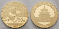 China 50 Yuan, 3,11g  fein 18 mm Ø Panda-Bären, 1/10 oz, 999 Gold