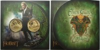 Neuseeland 1 Dollar x 2 The Hobbit-Elven Guards of Mirkwood,<b> 2.Blister mit 2 Münzen zum Kinofilm 2013