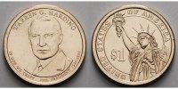 1 $ 2014 P USA Warren G. Harding / Kupfer-Nickel, Philadelphia vz  3,50 EUR  + 7,00 EUR frais d'envoi