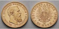 20 Mark, 7,16g fein 22,5 mm Ø 1888 A Preussen Friedrich III.  vz.-stgl.  475,00 EUR  + 17,00 EUR frais d'envoi