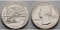 1/4 $ 2014 S USA Great Sand Dunes Park /S - Kupfer-Nickel - vz  2,00 EUR