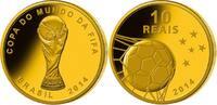 10 Reais 3,96g fein 16 mm Ø 2014 Brasilien Fußball Weltmeisterschaft 20... 995,00 EUR  + 23,00 EUR frais d'envoi