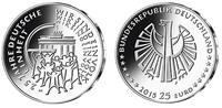 25 Euro 2015 G Deutschland 25 Jahre Deutsche Einheit, Prägestätte G, so... 36,80 EUR  + 17,00 EUR frais d'envoi