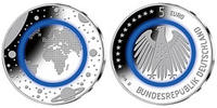 5 Euro 2016 J-D  Deutschland blauer Planet...