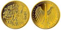 100 Euro<br> 15,55g<br> fein<br> 28 mm Ø 2...