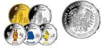 Medaillen x 5 als <br> Komplettsatz <br> 2...
