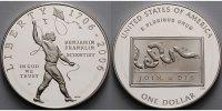 1 $ 2006 USA Benjamin Franklin, der Wissenschaftler,inkl. in Kapsel & E... 89,00 EUR  + 17,00 EUR frais d'envoi