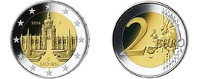2 Euro<br> 5x 2016 A/D/F/G/J Deutschland D...