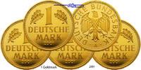 1 Mark 5 x 12,00g fein 23 mm Ø 2001 ADFGJ  Deutschland Abschieds Markko... 2750,00 EUR kostenloser Versand