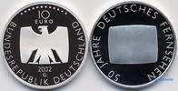 10 Euro 2002 Deutschland 50 Jahre Deutsches Fernsehen,5. Ausg. in 2002 PP  37,00 EUR  zzgl. 5,00 EUR Versand