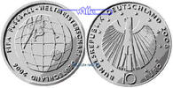 10 Euro 2005 F Deutschland Fußball WM 06/3. Serie Fußball1. Ausg. in 20... 35,50 EUR  + 17,00 EUR frais d'envoi