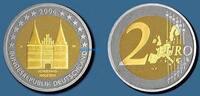 2 Euro 2006 G Deutschland Holstentor Lübeck, Prägestätte G  stgl  14,50 EUR  zzgl. 3,95 EUR Versand