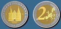 2 Euro 2006 G Deutschland Holstentor Lübeck, Prägestätte G  stgl  14,50 EUR  + 7,00 EUR frais d'envoi