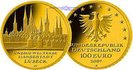 100 Euro 15,55g fein 28 mm Ø 2007A Deutschland Hansestadt Lübeck, Präge... 725,00 EUR  + 23,00 EUR frais d'envoi
