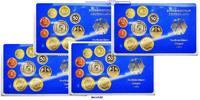 Deutschland 42,72 DM Amtlicher Kursmünzensatz in blauem Epalux