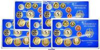 Deutschland 63,40 DM Amtlicher Kursmünzensatz in blauem Epalux