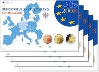 5,88 x5 2008 A/D/F/G/J Deutschland Kursmünzensatzkompl. Satz(5 Prägestä... 149,00 EUR  + 17,00 EUR frais d'envoi
