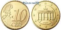 10 Cent 2003 F Deutschland Kursmünze, 10 Cent stgl  18,00 EUR  + 7,00 EUR frais d'envoi