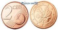 2 Cent 2012 J Deutschland Kursmünze, 2 Cent stgl  2,00 EUR  + 7,00 EUR frais d'envoi
