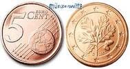 5 Cent 2008 D Deutschland Kursmünze, 5 Cent stgl  4,00 EUR  + 7,00 EUR frais d'envoi