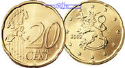 20 Cent 2002 Finnland Kursmünze, 20 Cent stgl  4,00 EUR  zzgl. 3,95 EUR Versand