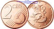 2 Cent 2000 Finnland Kursmünze, 2 Cent stgl  4,00 EUR  + 7,00 EUR frais d'envoi