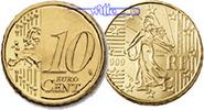 10 Cent 2008 Frankreich Kursmünze, 10 Cent stgl  7,50 EUR  + 7,00 EUR frais d'envoi