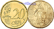 Frankreich 20 Cent Kursmnze, 20 Cent