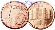 1 Cent 2002 Italien Kursmünze, 1 Cent stgl  0,50 EUR  + 7,00 EUR frais d'envoi