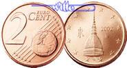 2 Cent 2003 Italien Kursmünze, 2 Cent stgl  2,00 EUR  + 7,00 EUR frais d'envoi