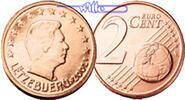 2 Cent 2002 Luxemburg Kursmünze, 2 Cent stgl  2,50 EUR  + 7,00 EUR frais d'envoi