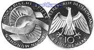 10 DM 1972 D Deutschland, Bundesrepublik 2. Ausg. Oly. Arme, PPSilber  17,50 EUR  + 7,00 EUR frais d'envoi