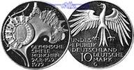 10 DM 1972 J Deutschland, Bundesrepublik 4. Ausg. Oly. Gelände, PPSilber  17,50 EUR  + 7,00 EUR frais d'envoi