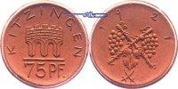 75 Pf 1921 Kitzingen, Steinzeug, Böttger,  Porzellan  prägefrisch  22,00 EUR  + 7,00 EUR frais d'envoi