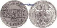 3 RM 1924 F Weimarer Republik Kursmünze, F ssPatina  40,00 EUR  zzgl. 5,00 EUR Versand