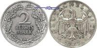 2 RM 1925 A Weimarer Republik Kursmünze, ss/vz, Patina  22,00 EUR  zzgl. 3,95 EUR Versand