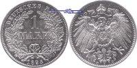 1 Mark 1893 D Deutschland Kursmünze, Kaiserreich, 1 Mark 1891-1904, Sil... 139,00 EUR  + 17,00 EUR frais d'envoi