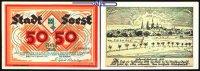 50 Mark  1922.11.11 Soest, Kreisstadt, Unterdruck hellbraunTopp 816.10 ... 6,00 EUR  + 7,00 EUR frais d'envoi