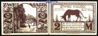 2 Mark  1921.11.10 Paderborn, Stadt, 10.Ausgabe Schattenrisse, Serie D.... 1,00 EUR  + 7,00 EUR frais d'envoi