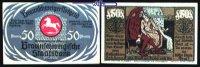 50 Pfg  1921,05,01 Braunschweig Braunschweiger Staatsbank, Eulenspiegel... 3,50 EUR  + 7,00 EUR frais d'envoi