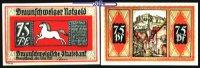 75 Pfg  1921,05,01 Braunschweig Braunschweiger Staatsbank, Serie Blanke... 1,80 EUR  + 7,00 EUR frais d'envoi