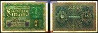 50 Mark 1919 24,6 Deutsches Reich Inflation, Reichsbanknote, Ro.62d, so... 8,00 EUR  + 7,00 EUR frais d'envoi