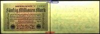 50 Millionen Mark 1923 1.09 Deutsches Reich Inflation, Reichsbanknote, ... 3,00 EUR  + 7,00 EUR frais d'envoi