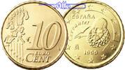 10 Cent 2002 Spanien Kursmünze, 10 Cent stgl  2,20 EUR  + 7,00 EUR frais d'envoi