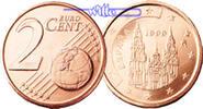 2 Cent 2010 Spanien Kursmünze, 2 Cent* stgl  4,00 EUR  + 7,00 EUR frais d'envoi