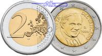 2 Euro 2010 Vatikan Kursmünze, 2 Euro * stgl  95,00 EUR  + 17,00 EUR frais d'envoi