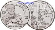 Frankreich 1 1/2 Euro Bartholdi & Freiheitsstatue inkl. Etui & Zertifikat & Schuber