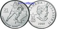 25 Cent 2007 Vancouver Oly Winter Vancouver 2010 Eishockey stgl-Kupfer-... 2,50 EUR  zzgl. 3,95 EUR Versand